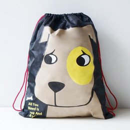 Wholesale Picking Shoe - Wholesale- U-PICK Cartoon Animal Drawstring Bag 100% Polyester Portable Travel Drawstring Backpack for Clothes Shoe Book More Pattern Style