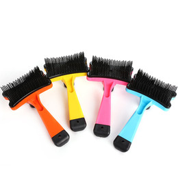Spazzole staccabili online-Pulizia facile Pettine amovibile Cucciolo Cura dei capelli Grooming Spazzole in plastica Guida Tidy The Pet Pratic Mini Supplies 3 7dc Z