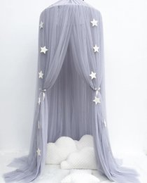 Wholesale Princess Kids Bedding - 1PC Circular Grey Canopy Bed Valance Kids Room Decoration Bed Tent Moustiquaire Princess Kids Girls Round Mosquito Net