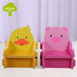 Wholesale Baby Play Gym Toys - Wholesale-Animal Duck Pig Chair EVA Foam Baby Toy Puzzle Play Mat Interlocking Game Exercise Gym Tile Floor Pad for Child Kid, 2cm 5Pcs