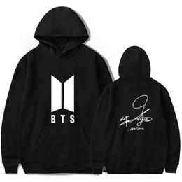 coole jungs-sweatshirts Rabatt Jungen Unterschrift Hoodies K-Pop Beliebte Cool und Mode Frauen / Männer Hoodies Sweatshirt Hip Hop Kleidung Big Size 4XL