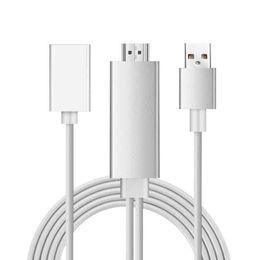 Мобильное соединение онлайн-Super Quality USB Female для HDTV для Apple Android Two-in-one с экраном мобильного телефона для подключения адаптеров для сотового телефона TV