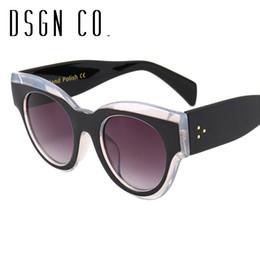 DSGN CO. 2018 Celebrity Favorite Brand Occhiali da sole per uomo e donna Luxury 8 colori Designer Cat Eye Occhiali da sole UV400 da