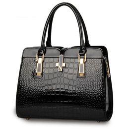 3c4abf0c67 Four Seasons Universal Ms. New Fashion Bags Crocodile Ms. Shoulder Bags  Portable Messenger Painted bags Patent Leather handbags