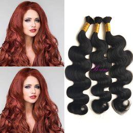 Wholesale Brazilian Body Wave Micro - Natural Wave 100% Human Hair Micro mini Braiding Bulk Hair black Body Wave Hair Bulk