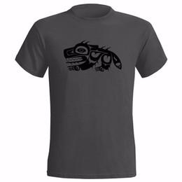 Canada SYMBOLE NATIF AMÉRICAIN WOLF HOMMES T-SHIRTS TRIBU INDIEN TRIBU INTRAN T-shirt nouveau mode top livraison gratuite 2018 chemises officia Offre