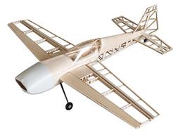 Kits de avião modelo elétrico on-line-EX330 1025mm Kit de Balsa de Corte A Laser Balsawood 3D Modelo de Avião de Construção (Energia Elétrica a Gás) Woodiness model / WOOD PLANE RC