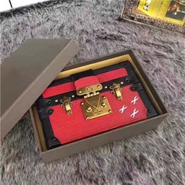 Wholesale plum clutch bags - 2017 Hot Selling Luxury Handbags Evening Bags Leather Fashion Box Wholesale-Designer Clutch Brick Famous Messenger Shoulder Bag Petite Malle