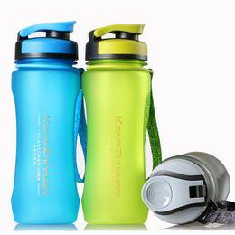 2019 frankreichflasche 600 ml Sport Wasserflasche Trinkflaschen Tragbare Für Outdoor Wandern Radfahren Gym Fitness Laufen Trinkbecher mattieren Outdoor Hydration DHL