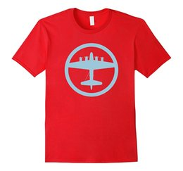 Wholesale Airplane T - B-17 Flying Fortress Blue World War II Airplane T-Shirt
