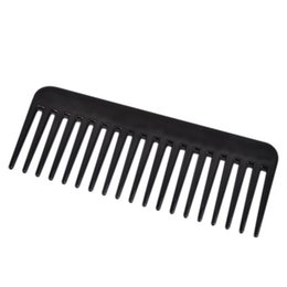 Wholesale Heat Abs - 19 Teeth Black High Quality ABS Plastic Heat-resistant Large Wide Tooth Comb Detangling Wide Teeth Hairdressing Comb