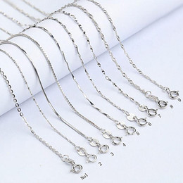 Wholesale China Wholesale Jewerly - Sterling Silver Jewelry Dragon 10 Piece lot 925 Silver Chain Necklaces free Shipping Valentine's Day Gift Gorgeous Fashion Jewerly Z0010