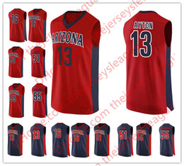 Custom Arizona Wildcats  1 Rawle Alkins 13 Deandre Ayton Stitched Any Name  Any Number Red Navy Blue NCAA College Basketball Jerseys S-3XL e53c52fdc