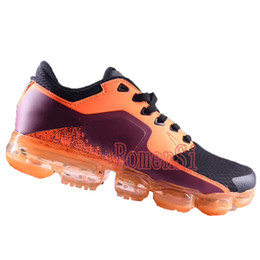Wholesale Full Air - New VaporMax 8 color Mens Running Shoes Leather surface Man Sneakers Knitting trainers Athletic Sport Shoe Full palm air basketball shoes