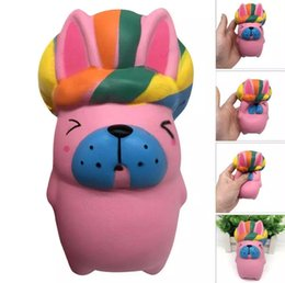 Wholesale Strap Home - Squeeze King Rabbit Squishy Slow Rising Decompression Easter Phone Strap Toy Kid Toy Home Decoration Kids Gift EEA203