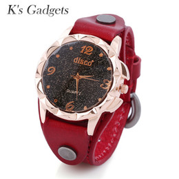 Relojes de pulsera de pulsera antiguos online-K'S Gadgets Antique Pure Leather Pulsera Reloj Vintage Mujeres Reloj Fashion Unisex Quartz