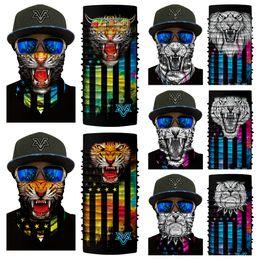 2020 mascarillas de gorila 10 Estilos Máscara Divertida de Animales Sin Costura Bufanda Collar de Equitación 3D Tiger Lion Panda Gorila Mono Bufanda Mágica Bufanda de Halloween Libre DHL G709F mascarillas de gorila baratos