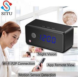 Wholesale mini live camera - Smartphone Live View Mini Camera Wifi IP Camera Alarm Clock Infrad Night Vision 720P HD Motion Detection Micro