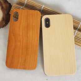 Caja de bambú de madera barata al por mayor de los accesorios del teléfono celular para el caso de madera de la cubierta de Iphone 6 6s p 7 8 X para el borde de la galaxia S8 S7 de Samsung desde fabricantes