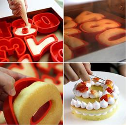 torte numerate Sconti 10 pollici 0-9 silicone digitale torta stampo torta numeri forma decorazione torta strumento per matrimonio compleanno anniversario