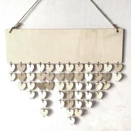 BOA QUALIDADE De Madeira Placa De Lembrete De Aniversário Placa de Placa de Família DIY Calendário Decoração de