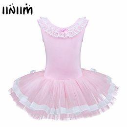 Iiniim Sans Manches Enfants Filles Ballet Danse Tutu Robe Justaucorps  Exercice Robe Dancewear Gymnastique Ballet Justaucorps Tutu 273d0e97ff7