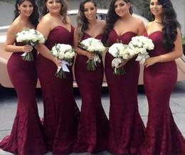 Wholesale Unique Bridesmaid Gowns - 2018 New Burgundy Elegant Bridesmaid Dresses Sweetheart Vintage Unique Design Maid of Honor Gowns Long Formal Wedding Guest Dresses