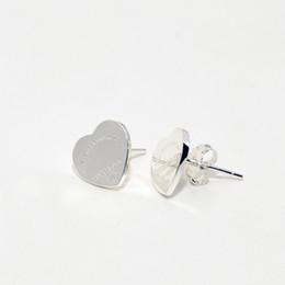 silberne schmuckentwürfe Rabatt 100% 925 Sterling Silber frauen Luxus mode design Schmuck Liebe Herz Ohrringe für Frauen Mädchen Hochzeit Geschenk Ohrstecker