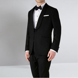 9695dd161db Black Man Wedding Suits Shawl Lapel Men Suits for Wedding Slim Fit Groom  Tuxedos Best Men Bridegroom Costume (jacket+pant+vest)