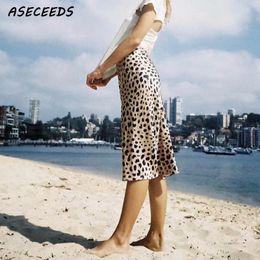 2018 Été vintage taille haute jupe imprimé léopard jupes femmes punk rock  style coréen boho streetwear jupe femme streetwear coréen pas cher 4b9e1de2d87