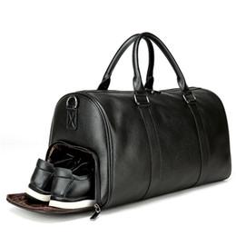 15bed7e1dd01 Bolsa de viaje para mujeres Bolsas de hombro de yoga para ejercicios de  fitness en negro Espacio separado para zapatos Bolsos Hombre Equipaje de  cuero Sac ...