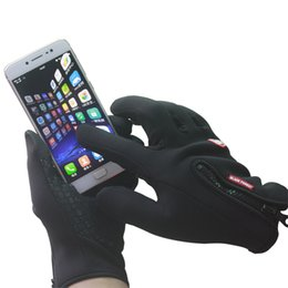 Wholesale Winter Running Gloves - Touch Screen Gloves Winter Keep warm Gloves Outdoor Running Skiing Snowboarding Cycling Gloves For Men And Women in Cold Weather