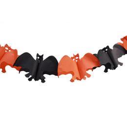 Commercio all'ingrosso 2016 nuova catena di carta ghirlanda decorazioni zucca pipistrello fantasma forma di cranio ragno Halloween ghirlanda da ghirlande all'ingrosso di halloween fornitori