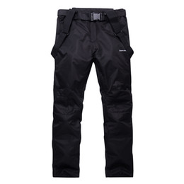 Wholesale Pink Ski Pants - Wholesale- Unsex Woman or Man Snow pants outdoor sports snowboarding Trousers waterproof windproof winter warm outdoor Bibs Ski Belt pants