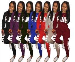Wholesale winter yoga pants - Women's Set Sweatshirt+Pants PINK Letter Print Winter Fashion Casual Women 2 Pieces Tracksuit ensemble femme Plus Size