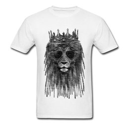 lion king t shirt Coupons - LION is KING Top T-shirts for Men Unique Summer Fall Tops Tees Short Sleeve Coupons Casual Tee Shirt O-Neck 100% Cotton