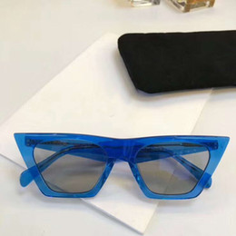Yeux bleus en Ligne-Femme BLUE BLUET Gris Lens CL41468 / S Lunettes de soleil Cat Eye Lunettes de soleil Designer Lunettes de soleil Sonnenbrille Eyewear Neuf avec boîte