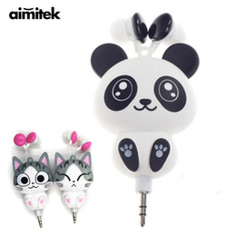 530000a6bfe326 Chinese Aimitek Cute Earphones Cartoon Panda Cheese Cat Chi's Sweet Home  Earbuds Automatic Retractable Hifi Headsets