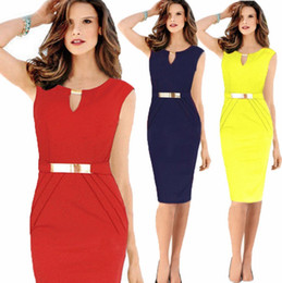 Wholesale Hot Sexy Office Wear - Hot sale sexy women business party cocktail evening pencil dress bodycon tights office dress top quality