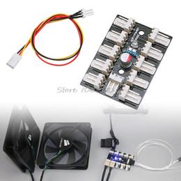 Wholesale Fan Splitter - 10-Way 3-Pin PWM Fan Hub PC CPU Host Game Water Cooling Splitter Adapter Case Z07 Drop ship