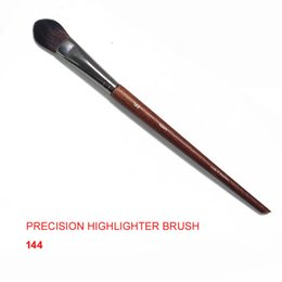 hair highlighting brush Coupons - MUFE PRECISION HIGHLIGHTER BRUSH 144 - Flat Tapered Highlighting Sculpting Brush - Beauty makeup brushes Blender
