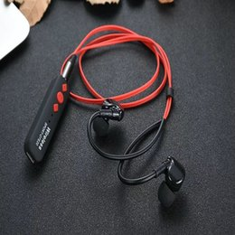 Wholesale usb microphone clip - Bluetooth 4.2 Wireless Headphone Sport Running Stereo Magnet Earbuds With Microphone Earphone Headset For SmartPhone With Clip