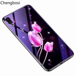 blau überzogenes iphone Rabatt Telefon-Shell-Blau-ausgeglichenes Glas, das sternenklaren Himmel-Plastik-Art- und Weiseblumen-gemalte harte Fall-Abdeckung für IPhone X 6 6S 7 8 plus XS bedeckt