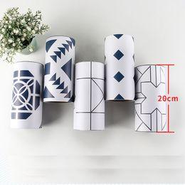 2019 gabinetes coreanos Linha de Cintura de PVC coreano Adesivo de Parede 3d para o Banheiro Telhas de Cozinha À Prova D 'Água Auto Adesiva Fronteira 3d Adesivos 20 cm x 500 cm gabinetes coreanos barato