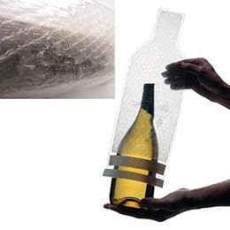 Aereo di vetro online-DHL 19 * 45 centimetri bottiglia di vino protettore manica borsa da viaggio sacchetto di bolla manica pelle viaggio aereo carrier bag per bottiglie di vetro