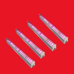 Melhor espectro completo levou crescer luzes on-line-T5 LED Grow Lights, tubo T5 Espectro Completo com UV + IR Melhor para Plantas de Interior Veg e Flor, Material Da Liga de alumínio