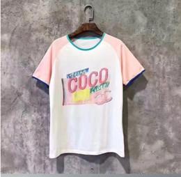 2019 modelo modelo principal Mulheres Camiseta Casual T de Algodão Top Verão Colaborativo Modelo de Manga Curta Feminino impressão t-shirt femme modelo modelo principal barato