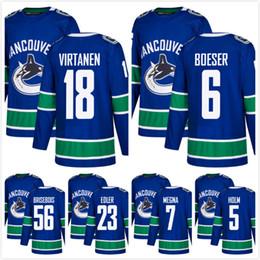 Wholesale Alexander Blue - Wholesale Hot Vancouver Canucks 18 Jake Virtanen 6 Brock Boeser Jayson Megna Alexander Edler Philip Holm Brisebois Stitched Hockey Jersey
