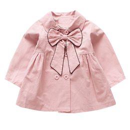 May baby # 5001Toddler Children Baby Girls Jacket Otoño Invierno Chaqueta Arco Prendas de abrigo Tops Ropa infantil gota compras desde fabricantes