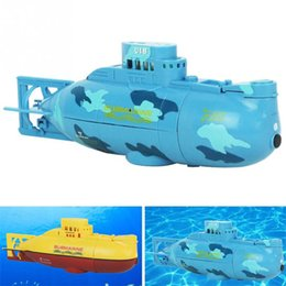 Wholesale Toy Submarines Radio Control - RC Submarine 6 Channels High Speed Radio Remote Control Electric Mini Radio Control Submarine Children Toy Boys Model Toys Gifts